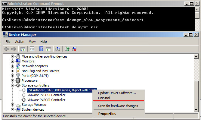 How to change the storage adapter to Paravirtual (PVSCSI) for a