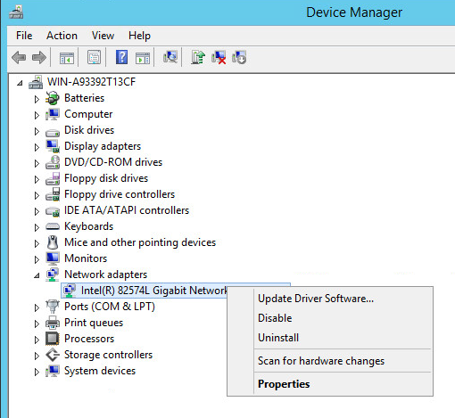 Remove Intel E1000 from Device Manager