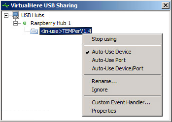 Auto-Use device for VirtualHere Client