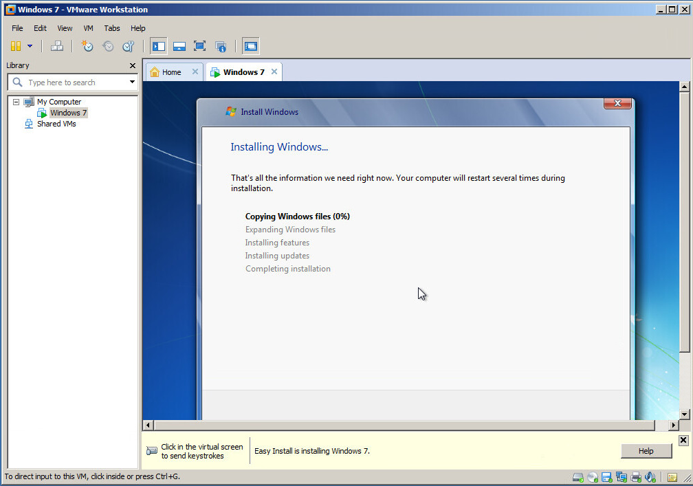 Creating your first virtual machine in VMware Workstation