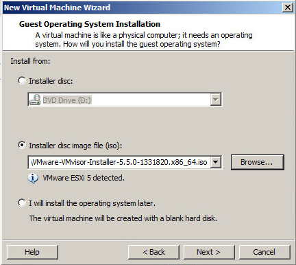 Install ESXi in a VMware Workstation virtual machine