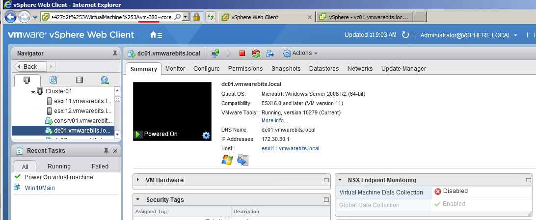 get MOID for VM with vSphere Web CLient