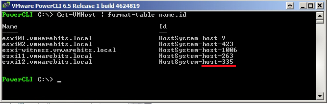 get MOID with PowerCLI