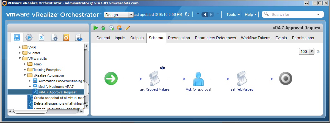 vRealize Automation 7 External Approval Workflow