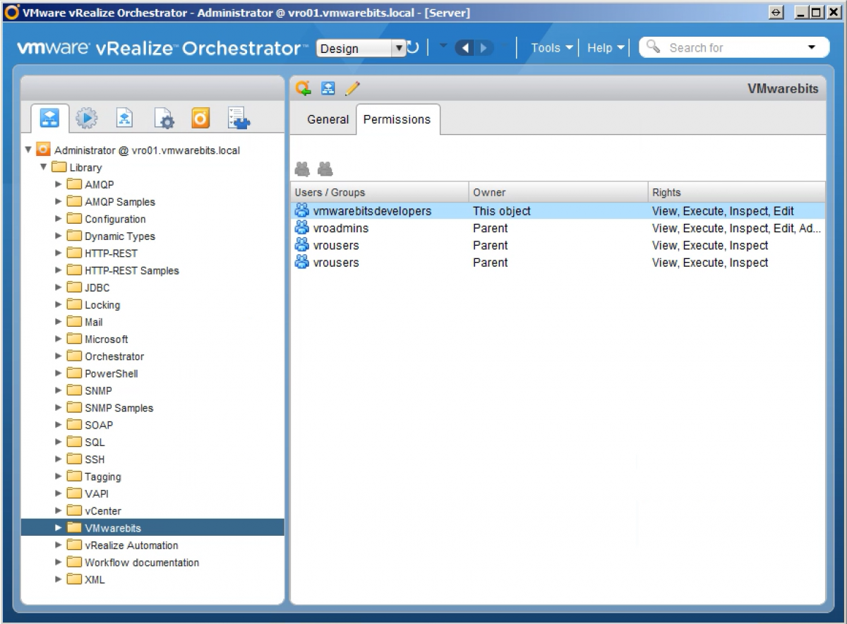 Configure Permissions for vRealize Orchestrator with AD
