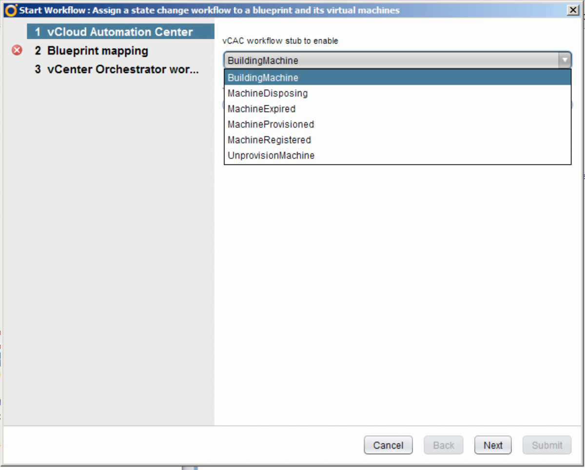 vRealize (vCAC) and vCenter Orchestrator workflow to change