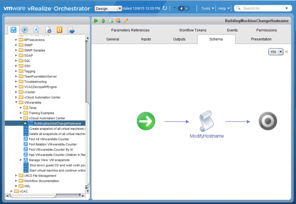 vRealize (vCAC) and vCenter Orchestrator workflow to change the