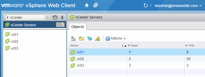 multiple vCenter Servers
